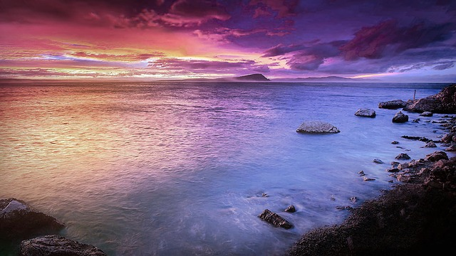 Beach, Sea, Rock