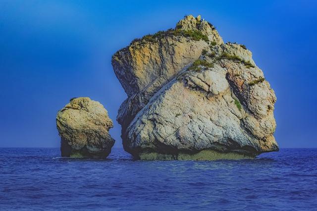 Cyprus, Aphrodite's Rock, Rock, Stone, Sea, Coast