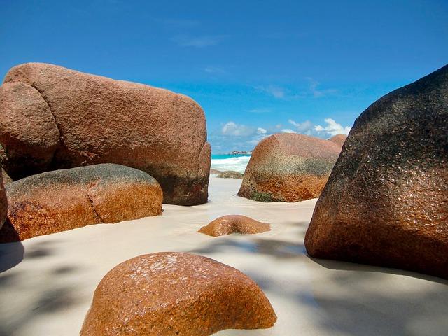 Rock, Sea, Water, Beach, Nature, Seychelles, Praslin