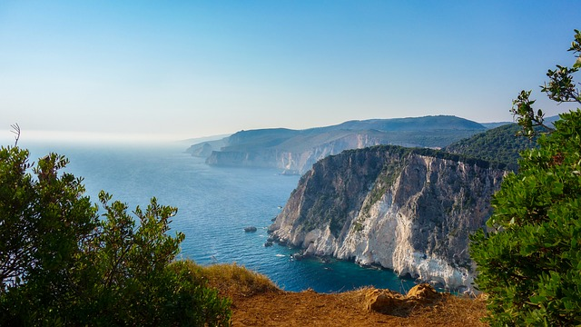 Cliff, Sea, Rock, Greece, Coast, Ocean, Water