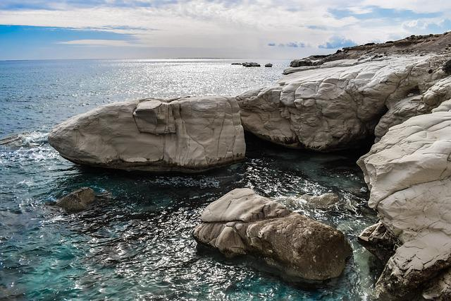 Rock, White, Rocky Coast, Nature, Sea, Seashore, Sky
