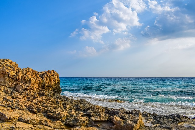 Rocky Coast, Waves, Sea, Nature, Landscape, Rock, Beach
