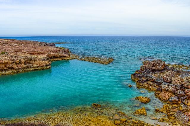 Rocky Coast, Lagoon, Turquoise, Calm, Serenity, Sea