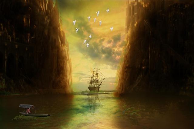 Photomontage, Bay Water, Sailing Boat, Sea, Ship