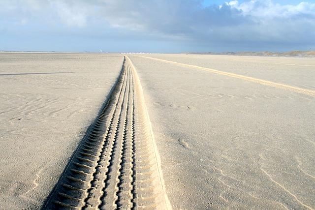 Trace, Sand, Beach, Tire Track, Traces, Reprint, Sea