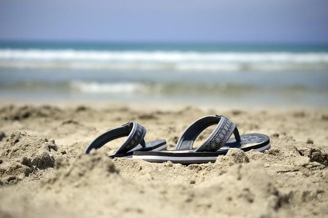 Sandals, Flip Flops, Shoes, Beach, Sea, Sand