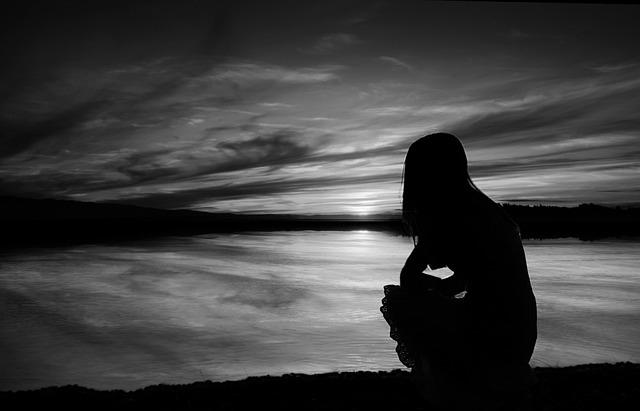 Sunset, Scenery, Sea, Beach, Dawn, Black And White