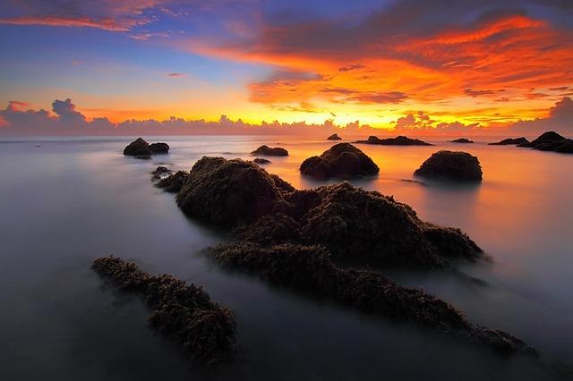 Seascape, Sunrise, Sea, Morning