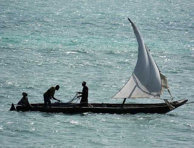 Sea, Ship, Fishermen, Zanzibar, Fishing, Water