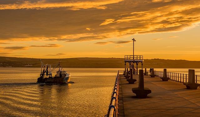 Pier, Boat, Sea, Sunset, Ship, Port, Vessel, Seascape