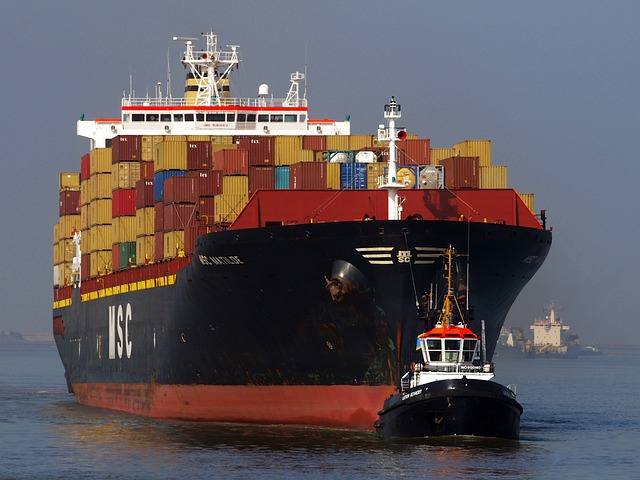 Ship, Containers, Products, Shipping, Sea, Ocean, Water