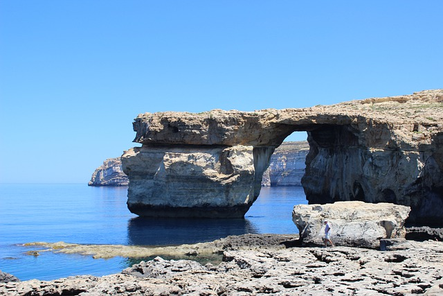 Azure Window, Malta, Gozo, Ocean, Sea, Seascape, Sky