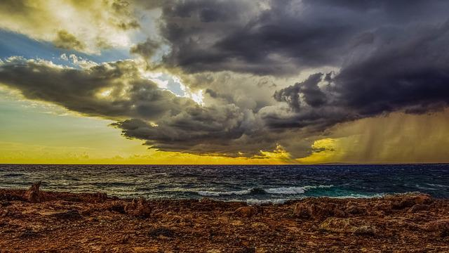 Rocky Coast, Sky, Clouds, Overcast, Weather, Sea