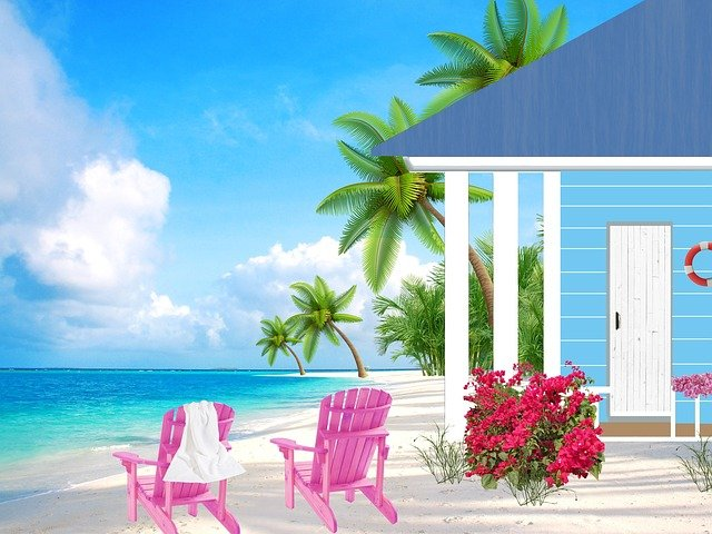 Small House, Seaside, Sea, Sandy Beach, Cottage