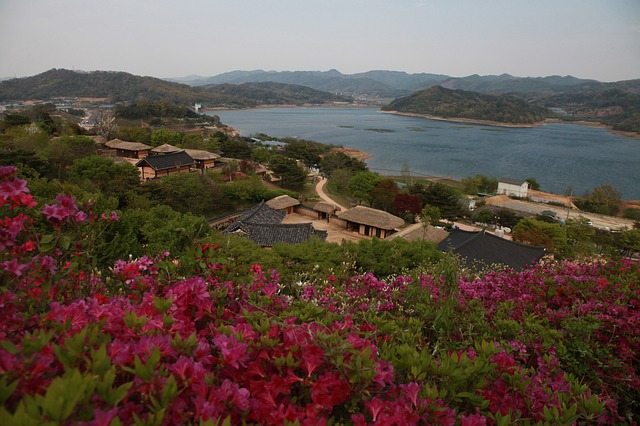 Spring, Home, Joseon Dynasty, Sea, Ocean, Mountain