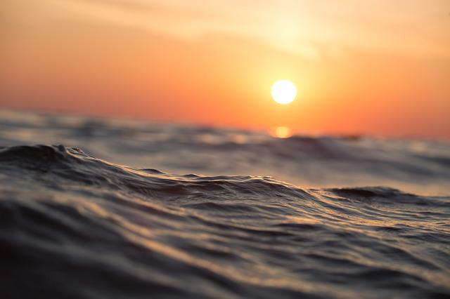 Ocean, Sea, Waves, Dawn, Dusk, Seascape, Sun, Sunrise