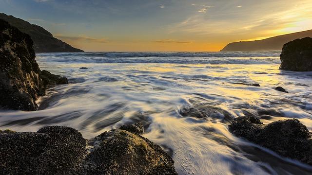 Sunrise, Ocean, Sea, Coast
