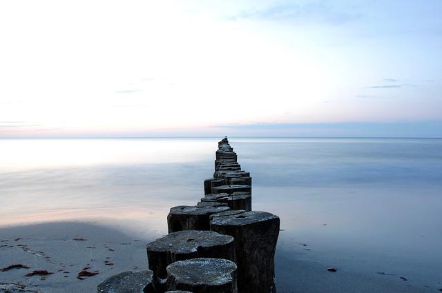 Sea, Sunset, Abendstimmung, Beach, Distant, Baltic Sea