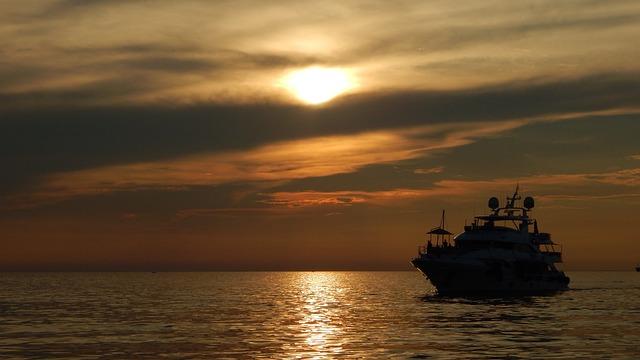 Trieste, Sunset, Clouds, Sky, Porto, Pier, Boat, Sea