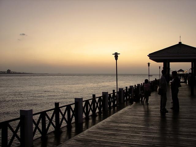 Freshwater Fish People Marina, Sunset, Sea, Entertained