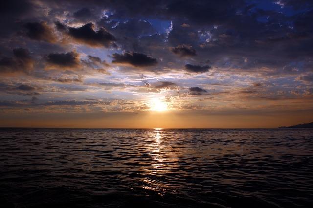 Sunset, Sun, Twilight, Nature, Sea