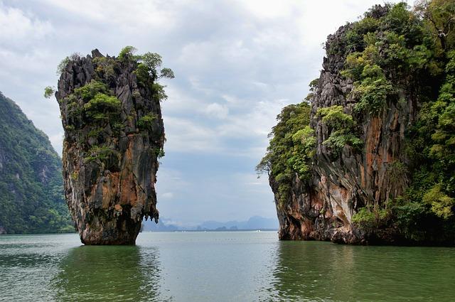 Thailand, Sea, Water, Holiday, Nature, Rock, Idyllic