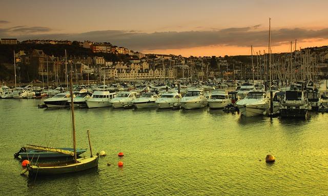 Devon, Brixham, Sea, Town, Water, Harbour, Torbay