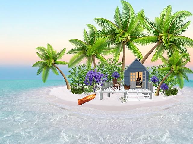 Island, Tropical, Paradise, Beach, Sea, Tropic, Sand