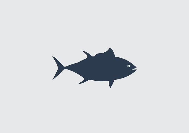 Fish, Tuna, Vector, Sea
