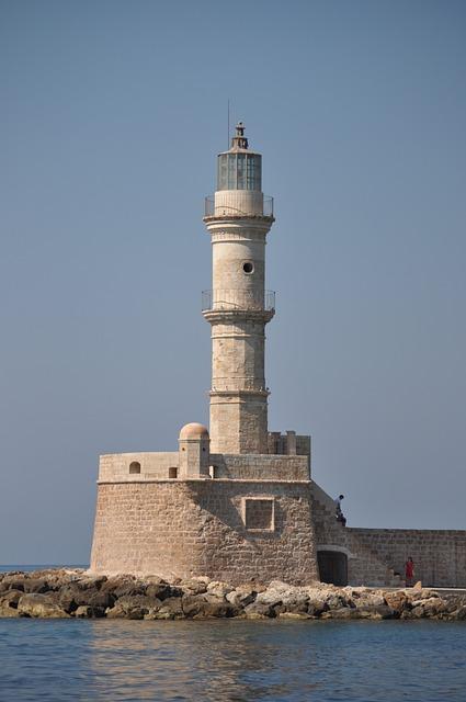 Lighthouse, Crete, Port, Mediterranean, Sea View