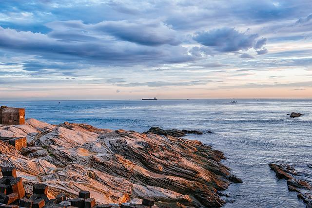 Landscape, Sea View, Taiwan, Coast, Evening