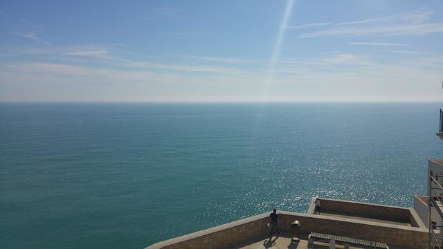 Sea, Peñíscola, Views, Castle