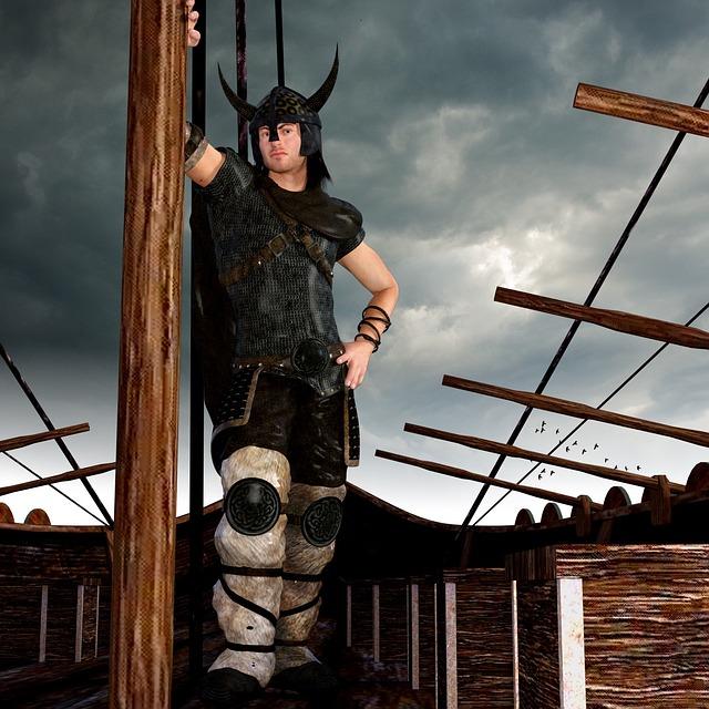 Vikings, Ship, Warrior, Sea, Historically, Battle Armor