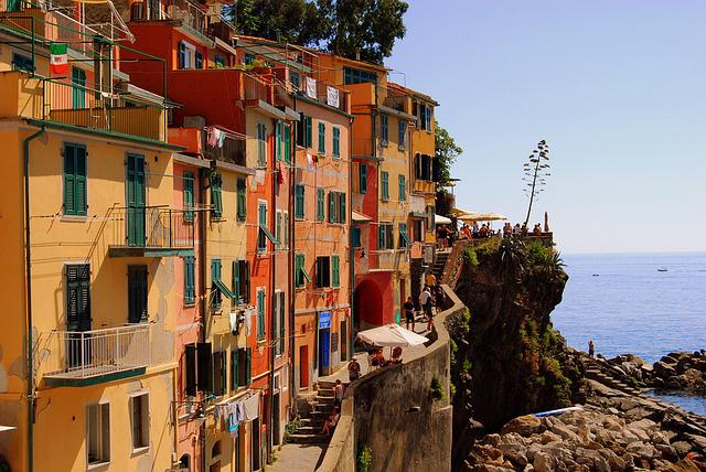 Houses, Cinque Terre, Vernazza, Liguria, Water, Sea