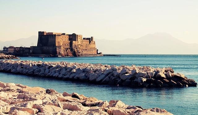 Naples, Sea, Castle, City, Waterfront, Water