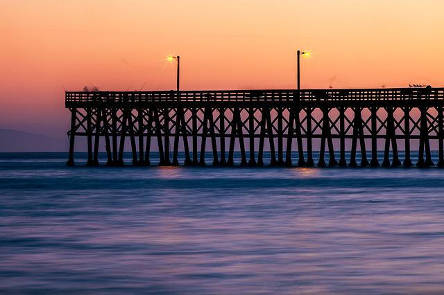 Jetty, Water, Ocean, Sunset, Sea, Nature, Pier