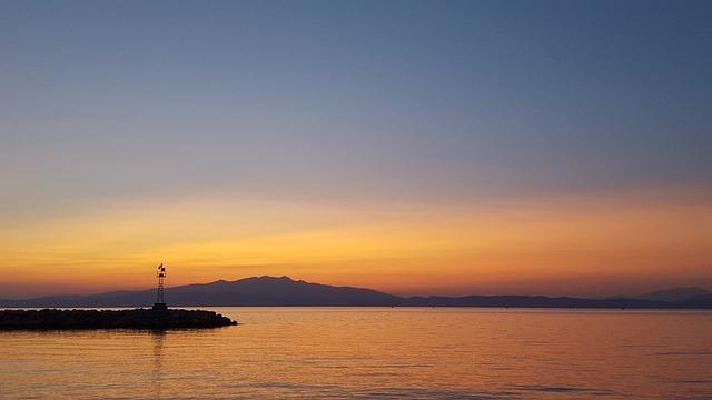 Sunset, Waters, Dawn, Sea, Sky, Dusk, Sun, Lake, Summer