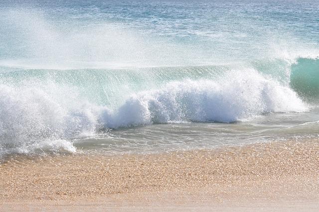 Sea, Water, Beach, Sandy Beach, Cape Verde, Wave