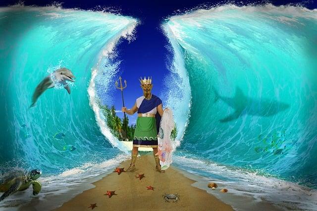 Sea, Fantasy, Water, Sky, Mood, Composing, Wave, Blue