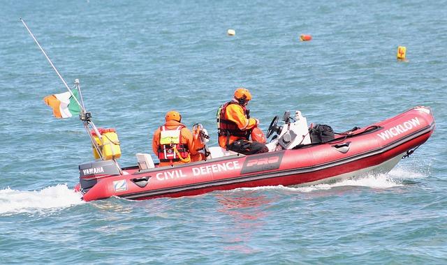 Civil Defense, Ireland, Wicklow, Boat, Sea