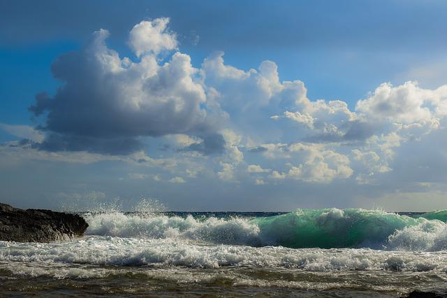 Wind, Waves, Sky, Clouds, Landscape, Sea, Nature