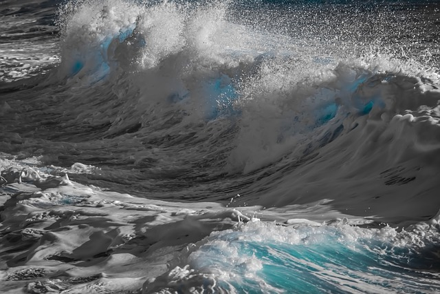 Water, Surf, Sea, Foam, Nature, Spray, Motion, Wind