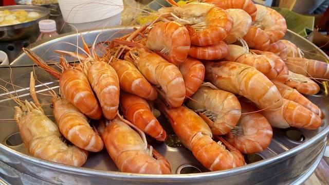 Food, Prawn, Shrimp, Seafood, Asian, Thai, Cooked