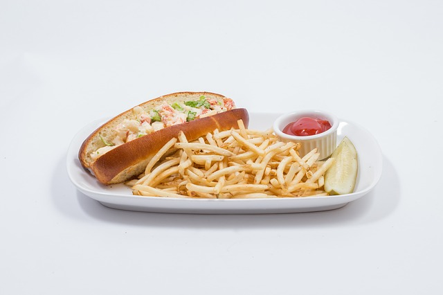 Lobster, Roll, Photo, Seafood, Bun, Gourmet, Lunch