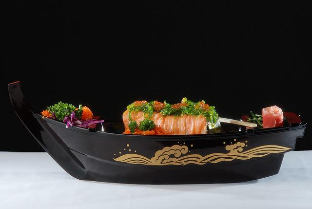 Sushi Boat, Lunch, Dinner, Seafood, Plate, Rolls