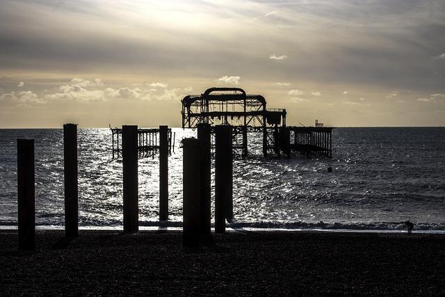 Brighton, West Pier, East Sussex, Uk, Seafront, Sussex