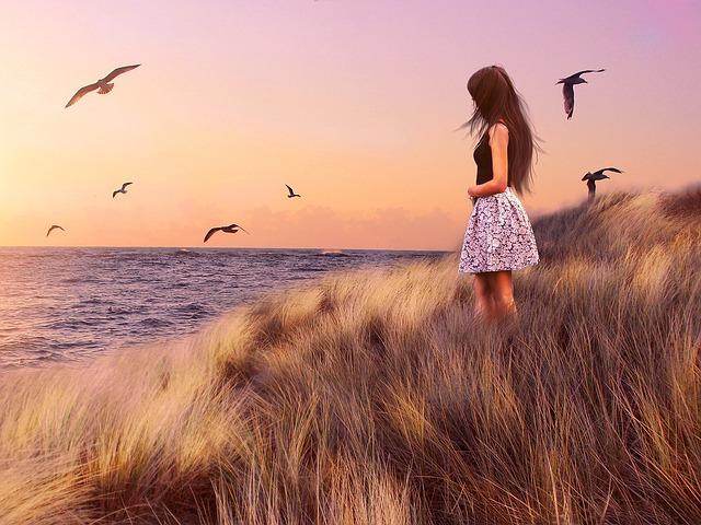 Girls, Ms, Sea, Bulgaria, Seagull, Bird, Black Sea