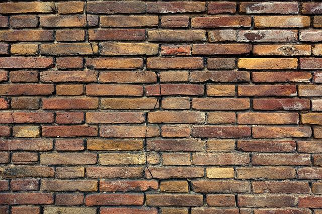 Brick Wall, Brown Brick Wall, Wall, Masonry, Seam