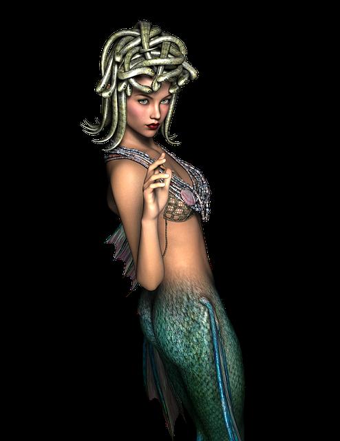 Medusa, Mermaid, Female, Girl, Hair, Woman, Seamaid