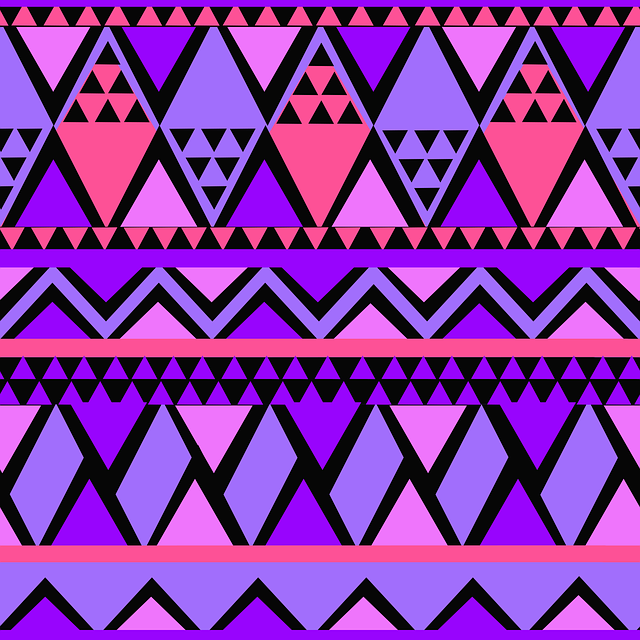 Seamless, Purple, Pink, Pattern, Tribal, Ethnic